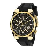 Pre-Owned Invicta S1 Rally Quartz Men's Watch - 47mm Stainless Steel Case Silicone Band Black (AIC-27329)