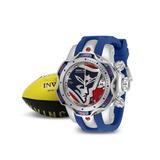 Invicta NFL New England Patriots Women's Watch - 44.4mm Blue Steel Red (33091)