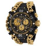 Invicta Gladiator Men's Black Gold Watch - 55.25mm - (34436)