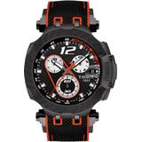 47.6mm T-race Le Strap Watch In Black/red/black At Nordstrom Rack - Black - Tissot Watches