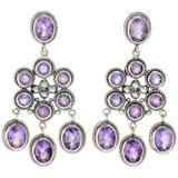 Sterling Silver Amethyst Chandelier Drop Earrings In Purple At Nordstrom Rack - Purple - Samuel B. Earrings