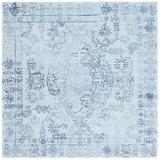 Safavieh Oriental Oriental Handmade Tufted Light Area Rug Recycled P.E.T./Wool in Blue, Size 72.0 W x 0.47 D in | Wayfair MRQ112J-6SQ