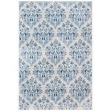 Martha Stewart Rugs Martha Stewart Ikat Cream/Area Rug Polypropylene in Blue, Size Rectangle 3' x 5' | Wayfair MSR2856D-3