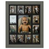 Northland Frames and Gifts Baby First Year Picture Frame Wood in Gray, Size 15.75 H x 12.75 W x 1.0 D in | Wayfair CBBY1114