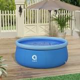 Oriufas Studio Inflatable Swimming Pool Easy Set Family Top Ring Pools, Swimming Pool For Adults Plastic in Blue, Size 28.7 H x 70.9 W x 70.9 D in