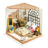 Robotime DIY House - Alice's Dreamy Bedroom, Size 7.29 H x 7.2 W x 7.9 D in | Wayfair DG107