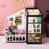 Robotime DIY House - Balcony Daydreaming, Size 6.8 H x 7.41 W x 5.3 D in   Wayfair DGM05