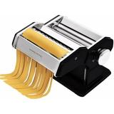 Ovente Manual Pasta Maker w/ 3 Attachments Stainless Steel in Black, Size 6.2 H x 7.8 W x 9.6 D in   Wayfair PA515B