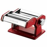 Ovente Manual Pasta Maker w/ 3 Attachments Stainless Steel in Red, Size 6.2 H x 7.8 W x 9.6 D in   Wayfair PA515R