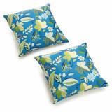 "Darby Home Co Menzies Outdoor 17"" Throw Pillow Polyester/Polyfill/Polyester/Polyester blend in Red, Size 17.0 H x 17.0 W x 8.0 D in   Wayfair"