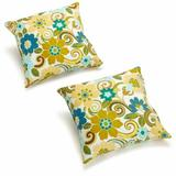"Darby Home Co Menzies Outdoor 17"" Throw Pillow Polyester/Polyfill/Polyester/Polyester blend, Size 17.0 H x 17.0 W x 8.0 D in   Wayfair"