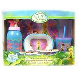 Disney Fairies Mealtime Tableware - 6 pcs Kids Dinnerware Set inspired by Tinker Bell