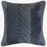 Chevron Velvet Decorative Pillow by Levinsohn Textiles in Cobalt