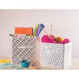 Trule Alverson Small Dots Nonwoven 4 Piece Fabric Cube or Bin Set Fabric in White, Size 11.0 H x 11.0 W x 11.0 D in   Wayfair