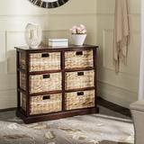 Beachcrest Home™ Santa Cruz Solid Wood 6 - Drawer Accent Chest Wood in Brown/Green, Size 29.5 H x 32.1 W x 13.4 D in   Wayfair BCMH3247 43208265