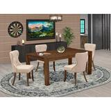 Lark Manor™ Flippen Folden Rubber Solid Wood Dining Set Wood/Upholstered Chairs in Brown, Size 30.0 H in   Wayfair BF2F1B29958F4153BDCFC3EFF82CD86A