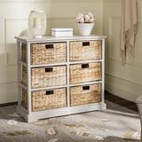 Beachcrest Home™ Santa Cruz Solid Wood 6 - Drawer Accent Chest Wood in Gray, Size 29.5 H x 32.1 W x 13.4 D in   Wayfair BCMH3247 43208266
