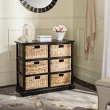 Beachcrest Home™ Santa Cruz Solid Wood 6 - Drawer Accent Chest Wood in Black, Size 29.5 H x 32.1 W x 13.4 D in   Wayfair BCMH3247 43208263