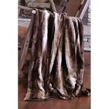 Union Rustic Rutkowski Elegance Throw Polyester in Brown, Size 50.0 W in   Wayfair 931B86A5E1634ADA82263E429AC33143