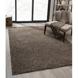 Ebern Designs kids Eclipse Collection Soft Cozy Plush Thick Shaggy Runner Rug - Taupe 3 Ft. By 10 Ft. Polypropylene in Brown, Size 60.0 W x 1.5 D in