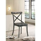 August Grove® Side Chair (Set-2), Rustic Gray Wood in Brown/Gray, Size 35.0 H x 17.0 W x 17.0 D in | Wayfair 93EC7A0003434E66BC4AFD0BD4720FD2