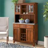 Andover Mills™ Priceville Dining Hutch Wood in Brown, Size 72.25 H x 44.0 W x 17.0 D in | Wayfair 7ECA5FD887714A9EB49033499C8F1AFC
