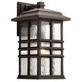 Latitude Run® Barton 1 - Bulb Outdoor Wall Lantern in Brown, Size 17.5 H in   Wayfair 893E9C8958DD488898E834F5641F8A2F