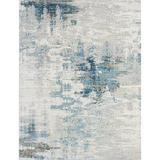 17 Stories Blue/Grey Tones Area RugPolyester/Viscose in Gray, Size 114.0 H x 90.0 W x 0.25 D in   Wayfair ED572E9486D643B5A03BCBD8D43E1A2A