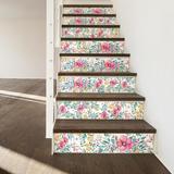 "Walplus 6"" x 6"" PVC Peel & Stick Field Tile Vinyl/PVC in Pink, Size 5.91 H x 5.91 W x 0.01 D in   Wayfair WT1526X4"