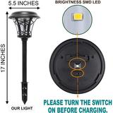 ZWISSLIV 25 Lumen Solar Powered Pathway Lights, Super Bright SMD LED Outdoor Lights, Stainless Steel & Glass Waterproof Light For Landscape, Lawn