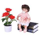 YLL Realistic Reborn Doll 17.72In Baby Play Doll Lifelike Soft Vinyl Silicone Doll, Size 17.72 H x 3.0 W x 4.0 D in | Wayfair GXC210607020