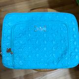 Kate Spade Accessories | Kate Spade Turquoise Quilted Laptop Case, Like New | Color: Blue | Size: 15