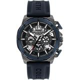 Chronograph Blue Silicon Strap Watch 45mm - Blue - Kenneth Cole Watches