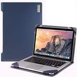 "Broonel - Profile Series - Blue Leather Laptop Case - Compatible with Acer Chromebook CB3-431-C64E Laptop 14"""