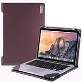 Broonel - Profile Series - Purple Leather Laptop Case - Compatible with Toshiba Radius 14 E45W-C4200X Touch-Screen Laptop