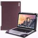 "Broonel - Profile Series - Purple Leather Laptop Case - Compatible with ASUS Laptop E402YA 14"" Laptop"