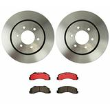 Front Brake kit Ceramic Pad Disc Rotor 7 Lug Compatible with Ford F150 Heavy Duty PKG