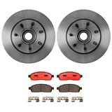 Front Brake kit Ceramic Pads Disc Rotors Compatible with Ford F150 RWD Base P/L Pkg
