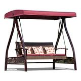 Outdoor Porch Swing Bed Porch Swing with Stand Outside Furniture Outdoor Swing Rocking Chair, Adjustable Sun Protection Roof Polyester Cushion Patio Armchair Patio Furniture Swing Chair OutdoorGarden