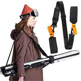 Adjustable Skis and Poles Carrier Straps,Winter Ski Accessories,Portable CarryingLabor Saving,Skiing Enthusiasts Gear/Downhill Ski Gear (Orange)