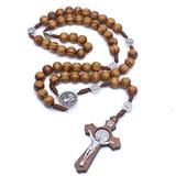Necklace Pendant Pendant Necklace Men's Woman's Gifts Wooden Long Beaded Chain Rosary Necklaces Accessories Christmas Mother's Day Valentine's Day Birthday Gift