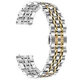 DFKai1run Stainless Steel Strap, Watch Strap 46mm Strap 22mm Stainless Steel Wrist Strap Fashion Sports (Band Color : 4, Band Width : 22mm)