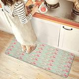 GUKISALA85 Kitchen Mat Retro Spring Blossom Flowers with French Garden Florets Garland Artisan Image Comfort Non-Slip Doormat Area Rug for Floor Home Office Sink Laundry