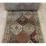 """Rug Depot 182890 Momeni Belmont BE-01 Red Traditional Hall and Stair Runner - 32"""" Wide Hallway Rug Runner - Custom Sizing - Red Background - Choose Your Length - 32"""" x 17 feet"""