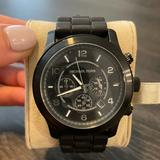 Michael Kors Accessories | Michael Kors Runway Black Silicone Band Watch | Color: Black | Size: Os