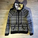 American Eagle Outfitters Tops | American Eagle Sherpa Lined Hoodie Sweatshirt. | Color: Black/White | Size: S