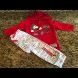 Disney Matching Sets   Baby Boys 2-Piece Disney Baby Sweatsuit   Color: Gray/Red   Size: 6-9mb