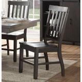 Red Barrel Studio® Side Chair (Set-2) In Rustic Walnut Wood in Brown/Gray, Size 40.0 H x 18.0 W x 18.0 D in   Wayfair