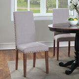 Alcott Hill® Upholstered Dining Chairs Furniture Fabric Dining Chairs w/ Nailhead Trim, Set Of 2Wood/Upholstered/Fabric in Gray   Wayfair
