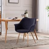 Corrigan Studio® Dining Chairs, Modern Style Upholstered Fabric Chairs Leisure Side Chairs w/ Metal LegsWood/Upholstered/Velvet in Blue/Brown/Gray